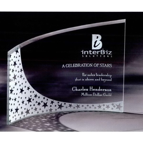 Large Breeze Bent Glass Award