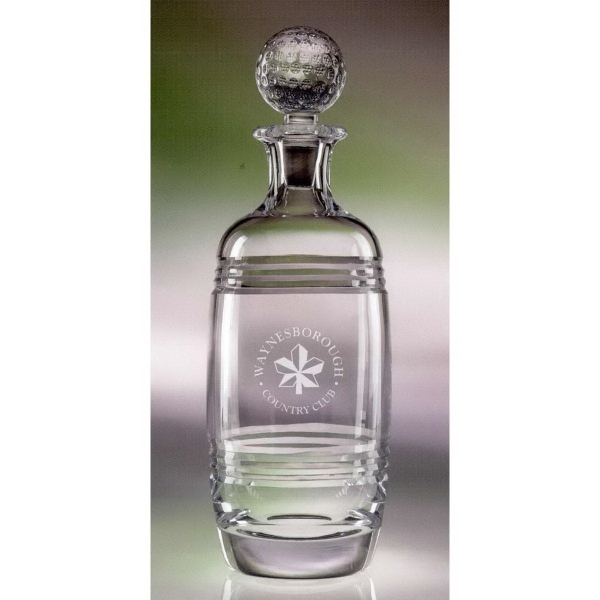 34 Oz. Bluegrass Decanter - Golf