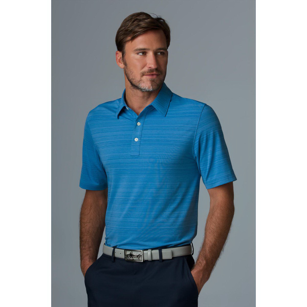 Greg Norman Play Dry (R) Uneven Heather Textured Polo