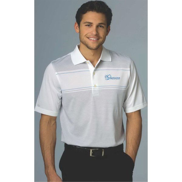 Greg Norman Play Dry (R) Engineered Tech Stripe Polo