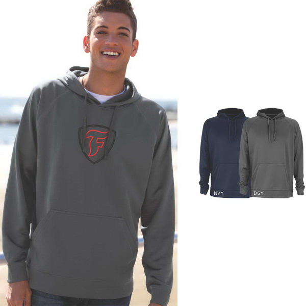 Vansport (TM) Brushed Back Micro-Fleece Pullover Hoodie