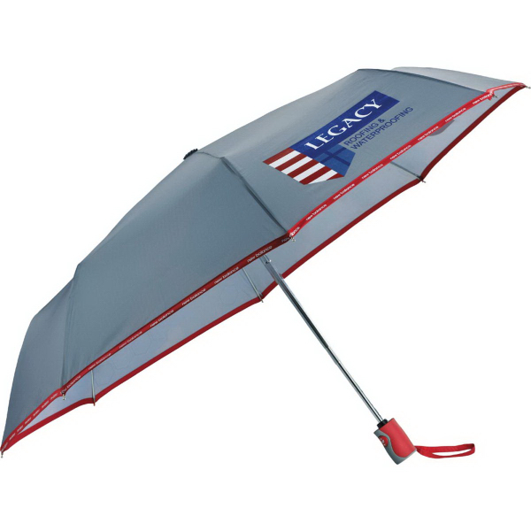 "42"" New Balance (R) Auto Open/Close Folding Umbrella"