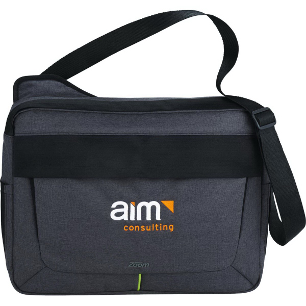 Zoom (TM) Power Stretch Compu-Messenger Bag