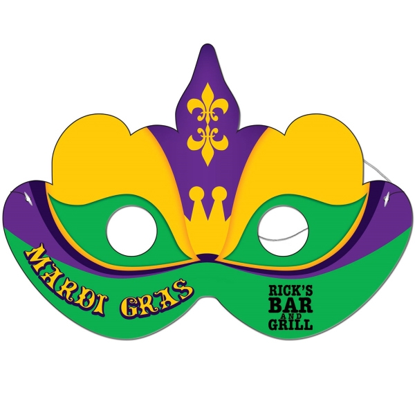 Mardi Gras Mask with Elastic Band