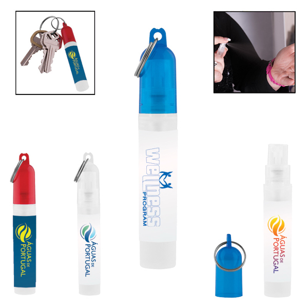 Mini Key Chain Sanitizer Spray - 0.16 oz. / 5 mL