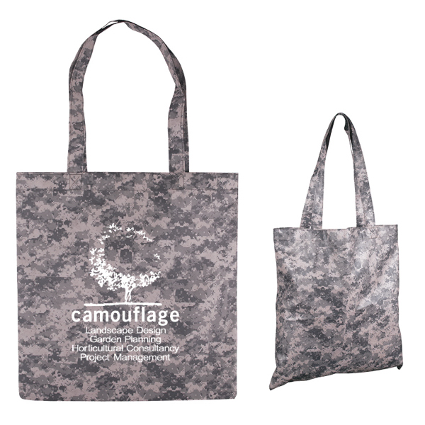 Digital Camouflage Nonwoven Value Tote