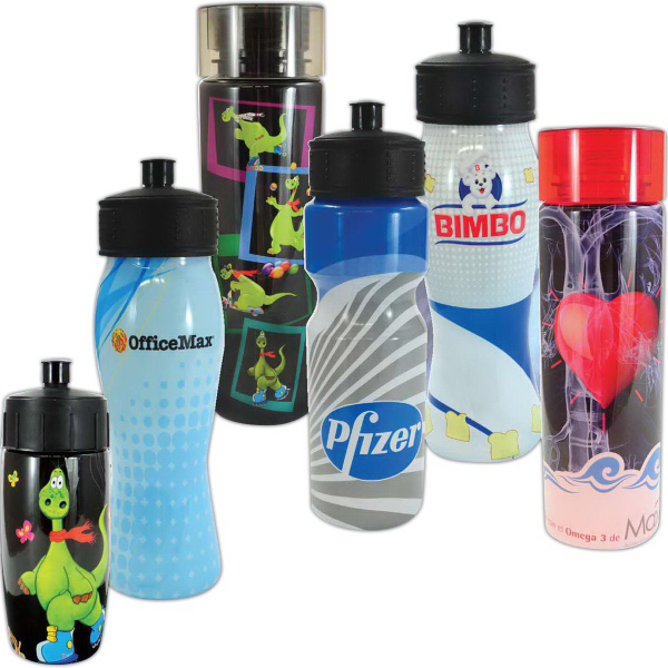 Custom 2drink Full Color Wrap Drench Water Bottle