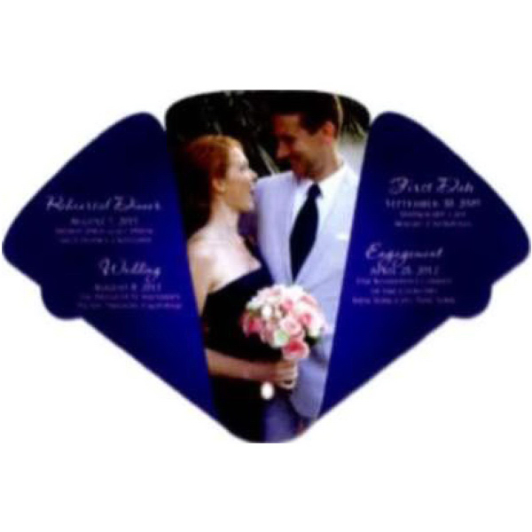 Large Four Part Expandable Wedding Fan