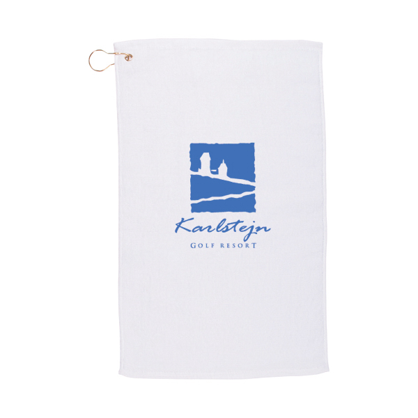 Budge Golf Towel (14 x 22) - White