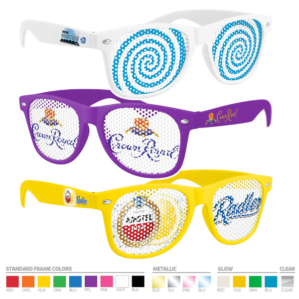 Pinhole Sunglasses with Full-color Side Imprint