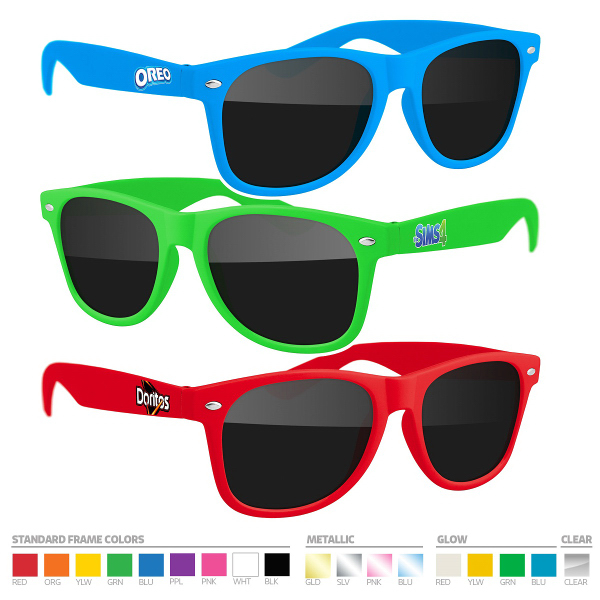Sunglasses (UV400) with Full-Color side imprint