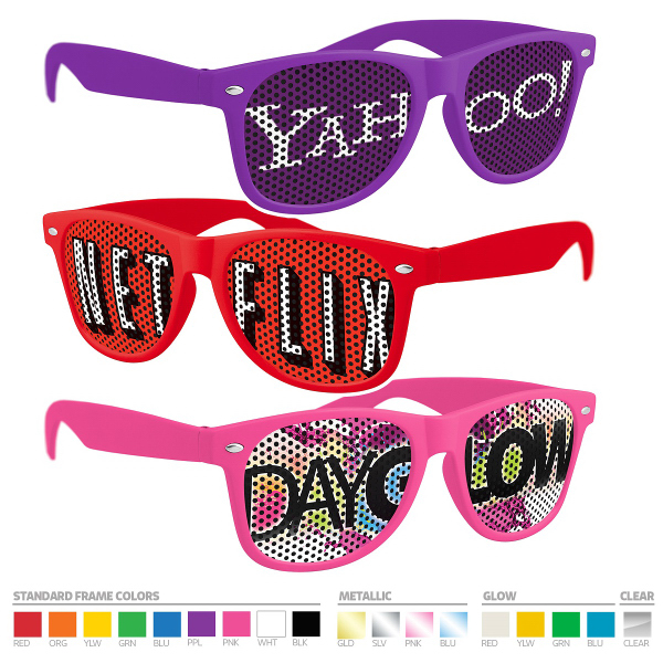 Custom Printed Lens Pinhole Sunglasses (UV400)