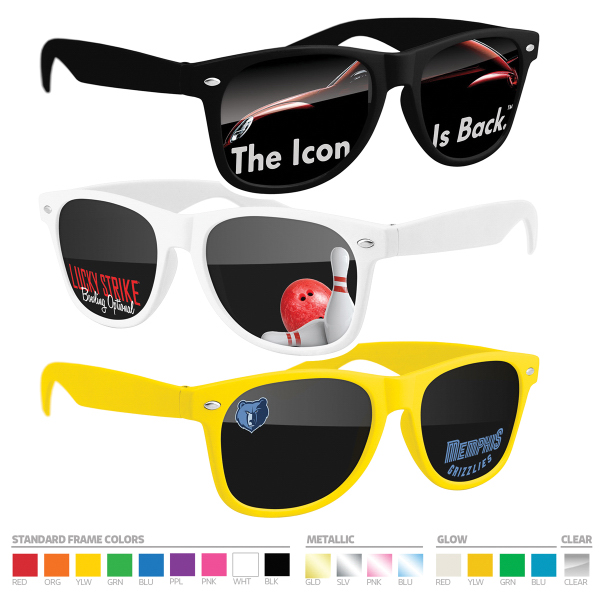 Sunglasses (UV400) with full-color imprint