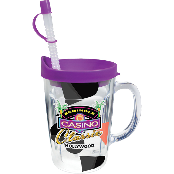 14 oz Thermal Travel Mug Clear Printed Insert