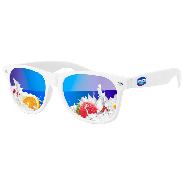 Retro Mirror Sunglasses with Full-Color OpticPRINT Lenses