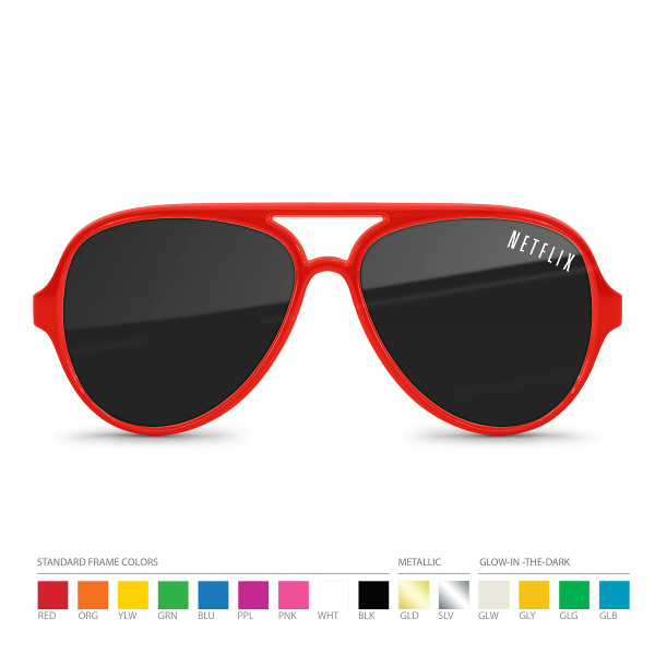 Aviator Sunglasses (UV400) with Corner Lens Imprint