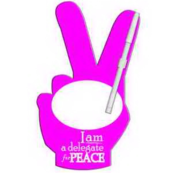Peace Sign Erasable Memo Board