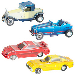 Wind-Up Puzzle Cars