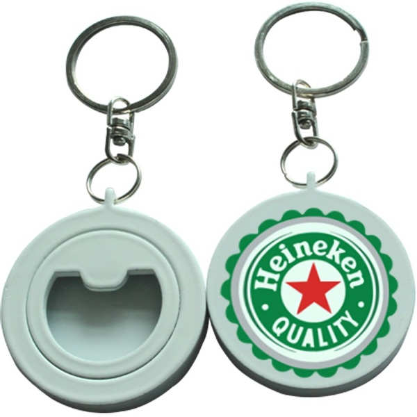 Round Full Color Key Chain / Bottle Opener