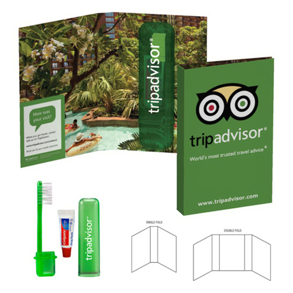 Tek Booklet with Travel Toothbrush and Colgate(R) Toothpaste