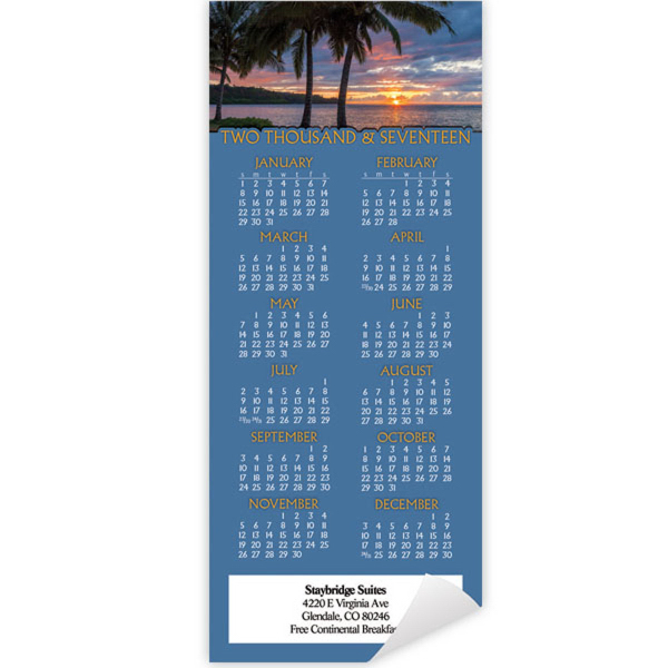 Economy Collection Sunset Magnetic Calendar