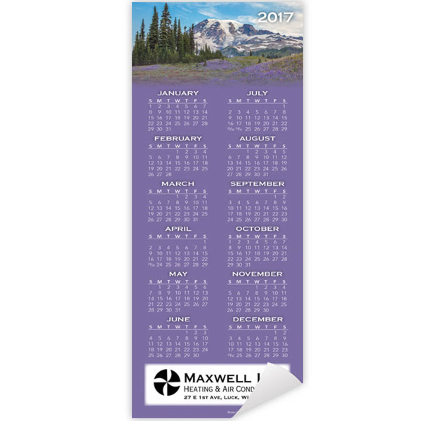 Economy Collection Scenic Magnetic Calendar