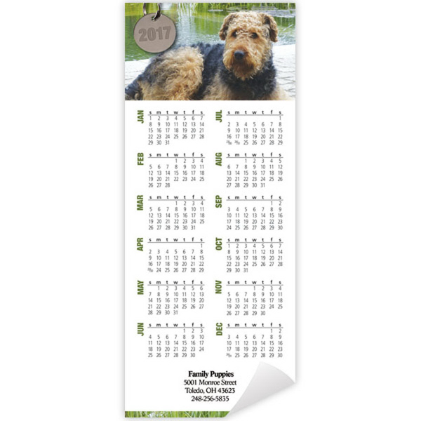 Economy Collection Canine Companions Magnetic Calendar