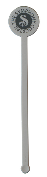 "6"" Round Plastic Drink Stirrer - White"