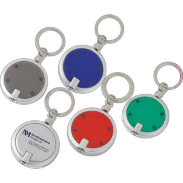 Round Light-Up Key Chain