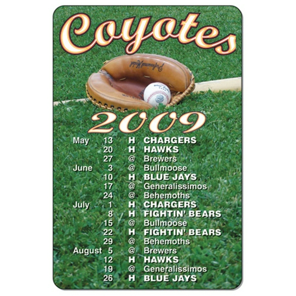 Rectangular Calendar Magnet with Rounded Corners
