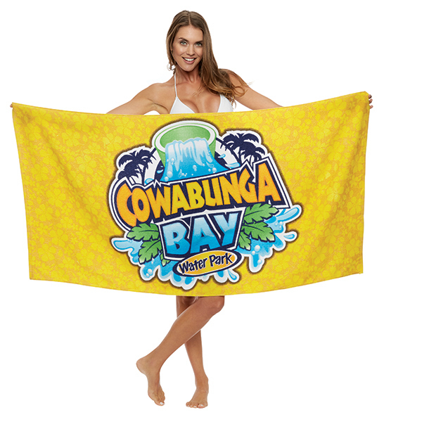 Custom Fiber Reactive Loop Terry Velour Beach Towel