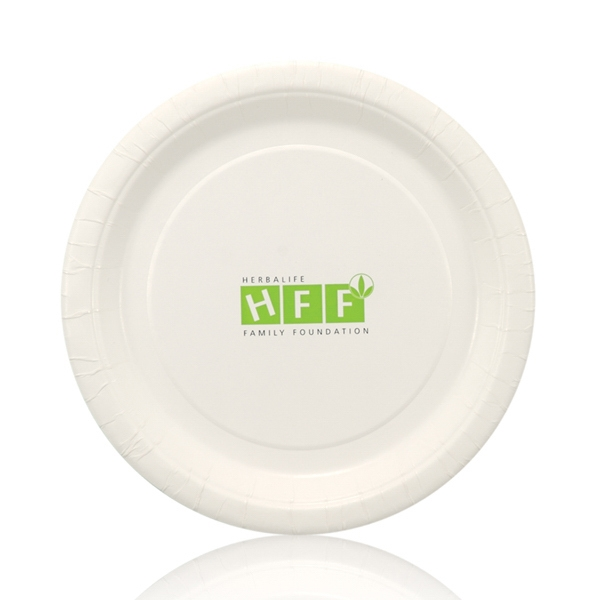 "7"" Coated Paper Plate - White"