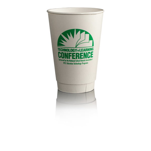 16oz Paper Cup Insulated - White
