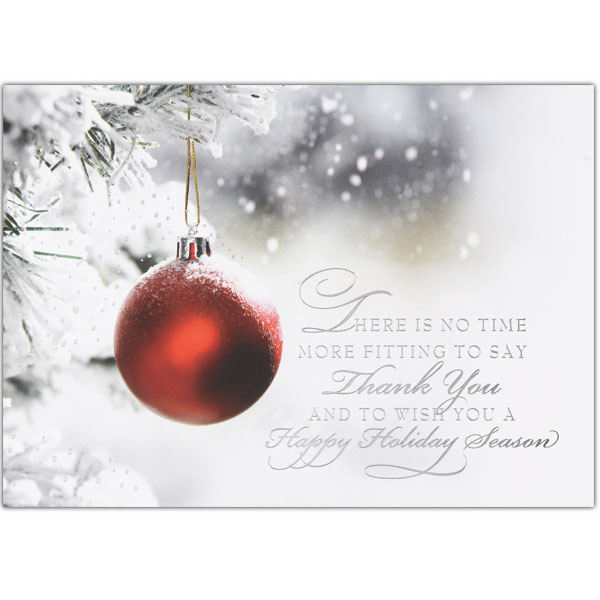 Frosted Red Ornament Card