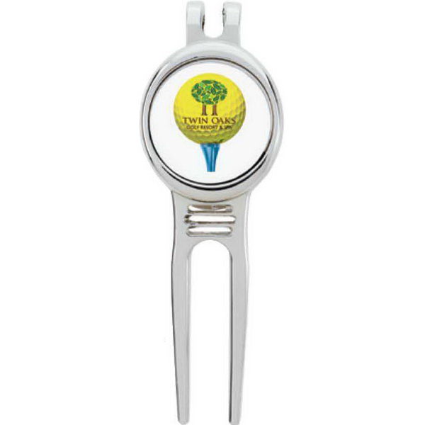 Golfer's Divot Tool with Ball Marker