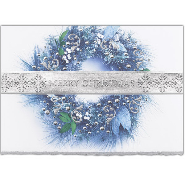 Wreath In Hues of Blue Card
