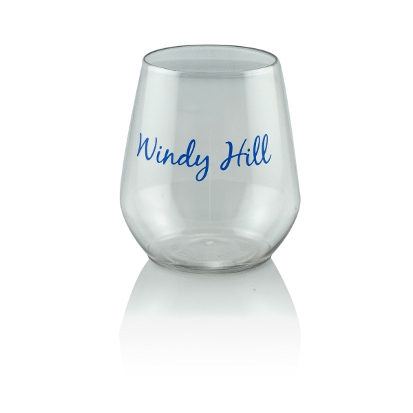 12 oz Clear Plastic Reserv Stemless Glass
