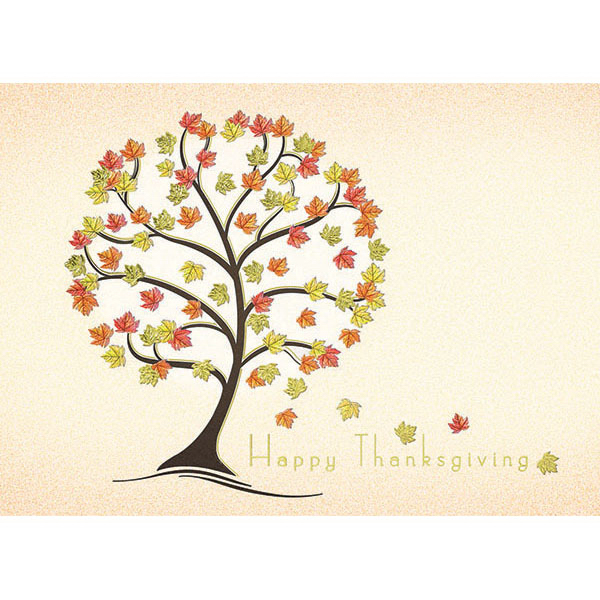 Happy Thanksgiving Tree Card