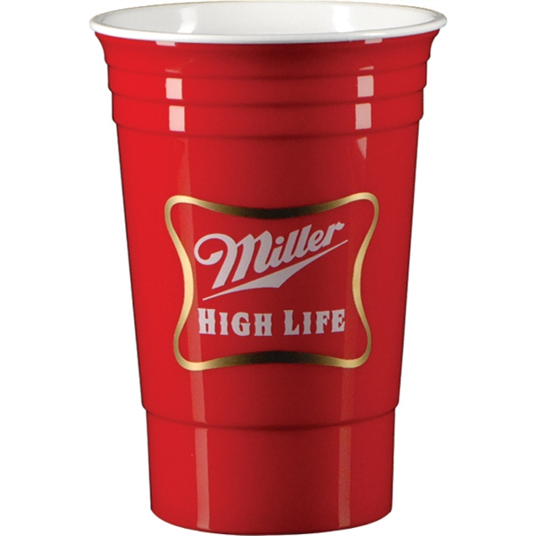16 oz. Double Wall Party Cup-Red