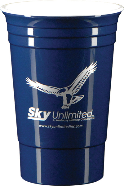 16 oz. Double Wall Party Cup-DkBlue