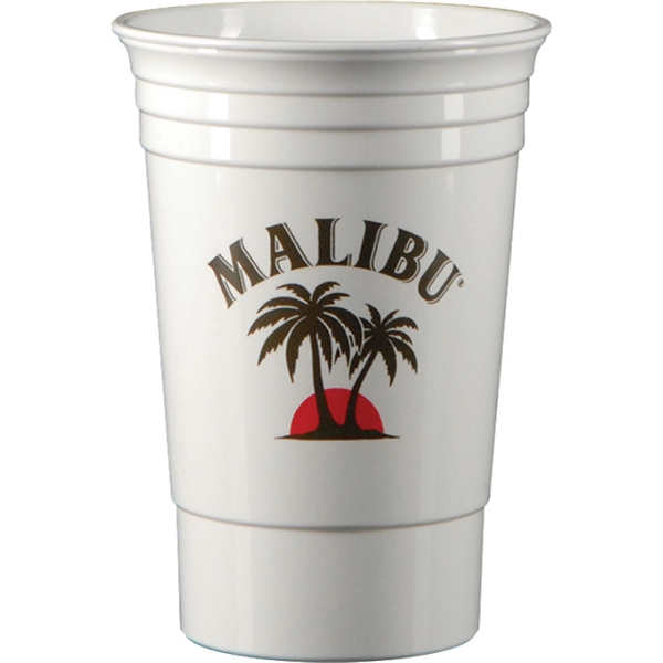 16 oz. Double Wall Party Cup-White