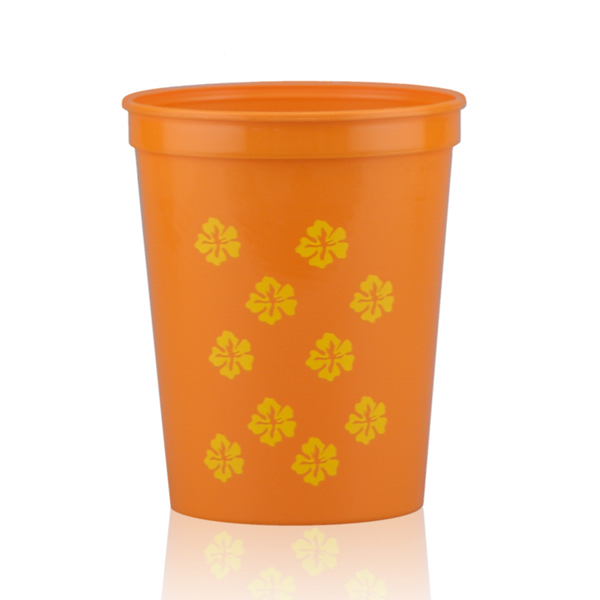 16oz Stadium Cups-Orange