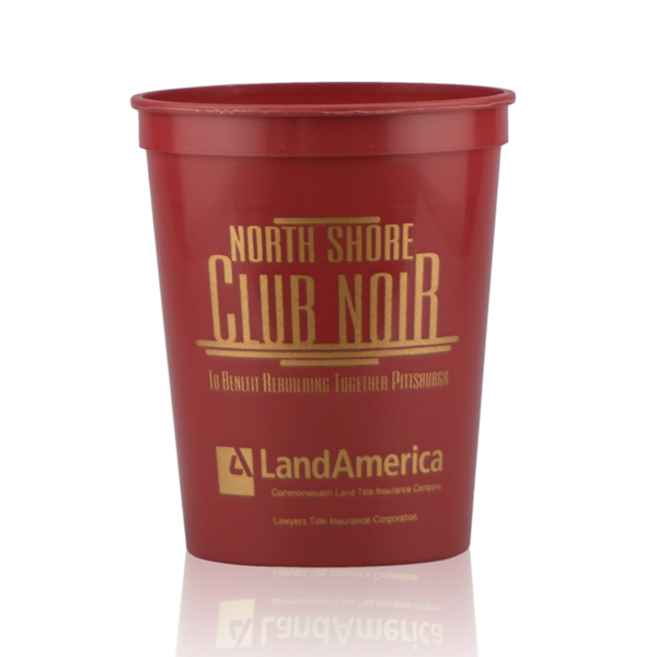 16oz Stadium Cups-Burgundy