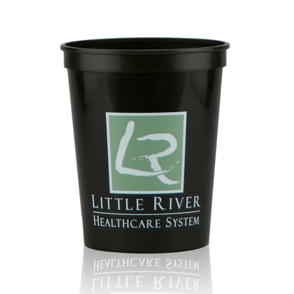 16oz Stadium Cups-Black