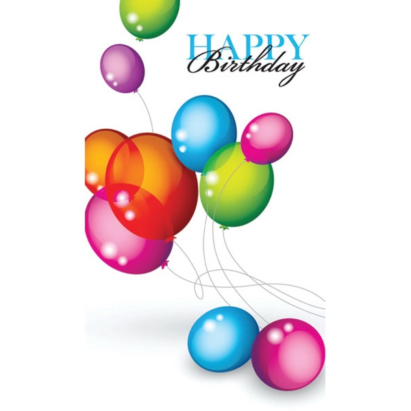 Happy Birthday Balloons Card