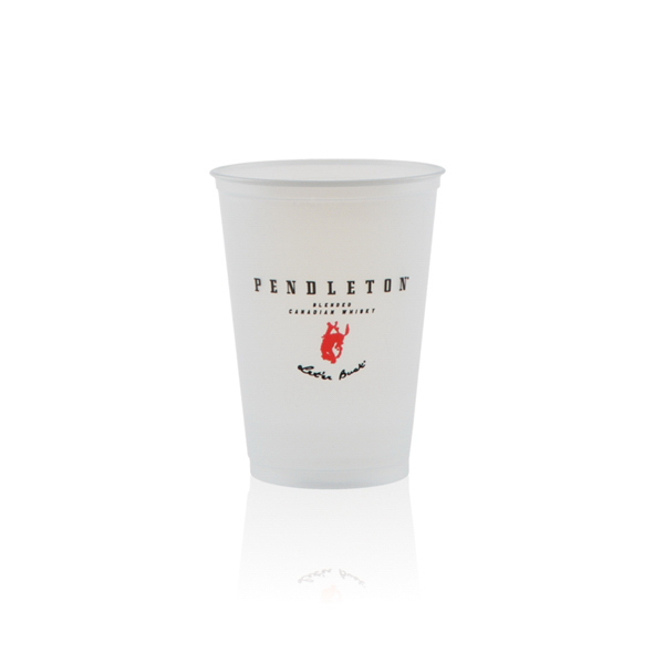 10 oz Soft Sided Frosted Plastic Cup