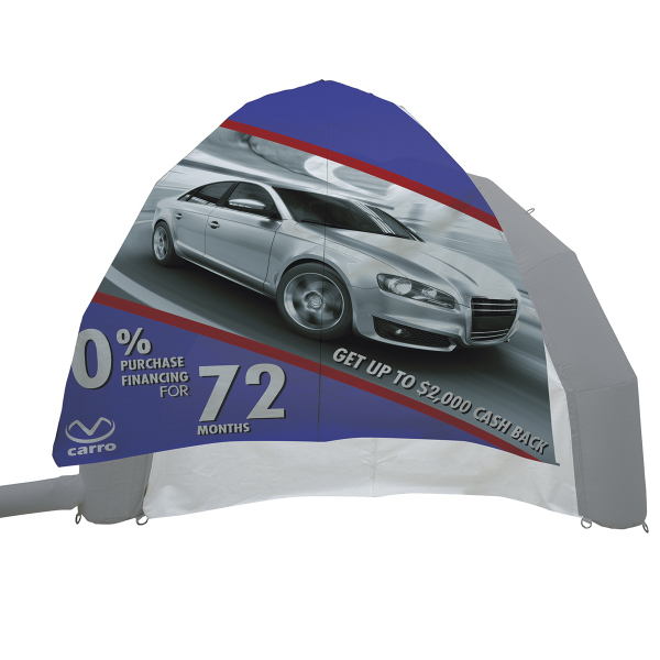 Dome Inflatable Display Kit with Wall Graphics Only