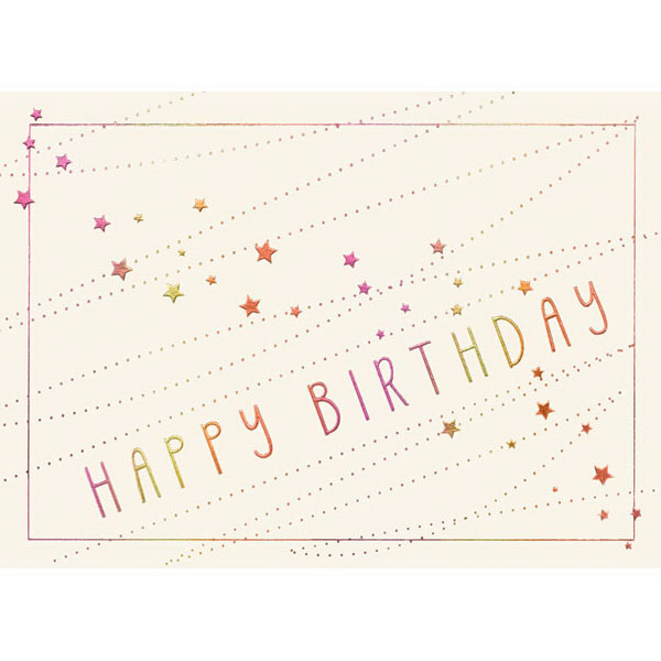 Birthday Stars Greeting Card