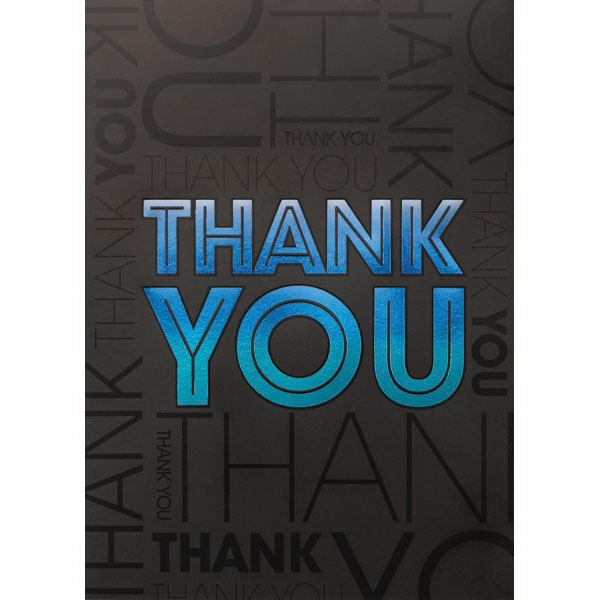 Tone on Tone Thank You Greeting Card