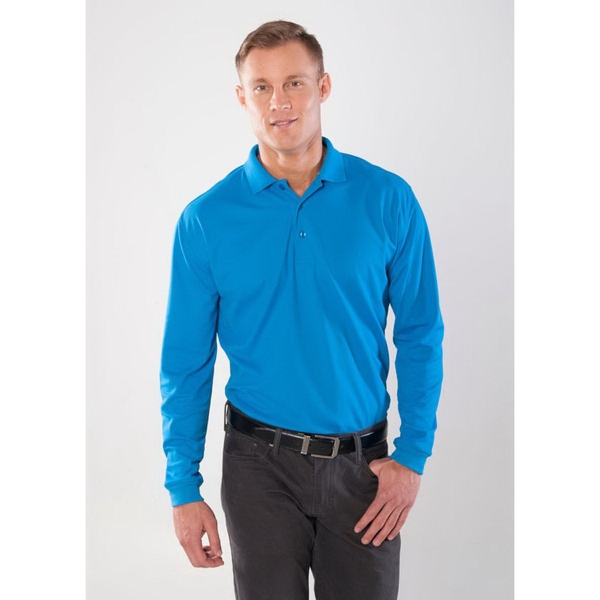Men's Long Sleeve Technicore (TM) Endurance Pique Polo
